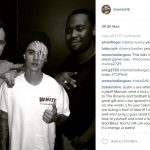 johnny manziel partying with justin bieber 2016 nfl