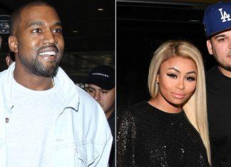 kanye west only kardashian clan member okay with rob blac chyna engagement 2016 gossip