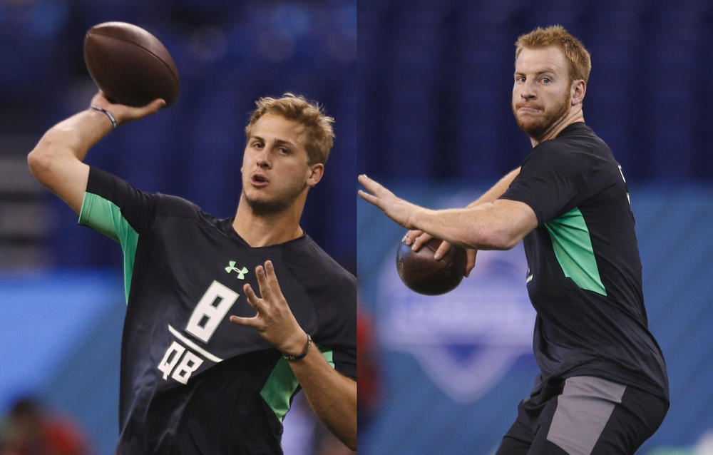 los angeles rams trade up top pick in 2016 nfl draft carson wentz and jared goff on block 2016 images