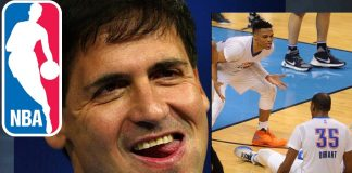 mark cuban brings out best in kevin duran on russell westbrook 2016 images