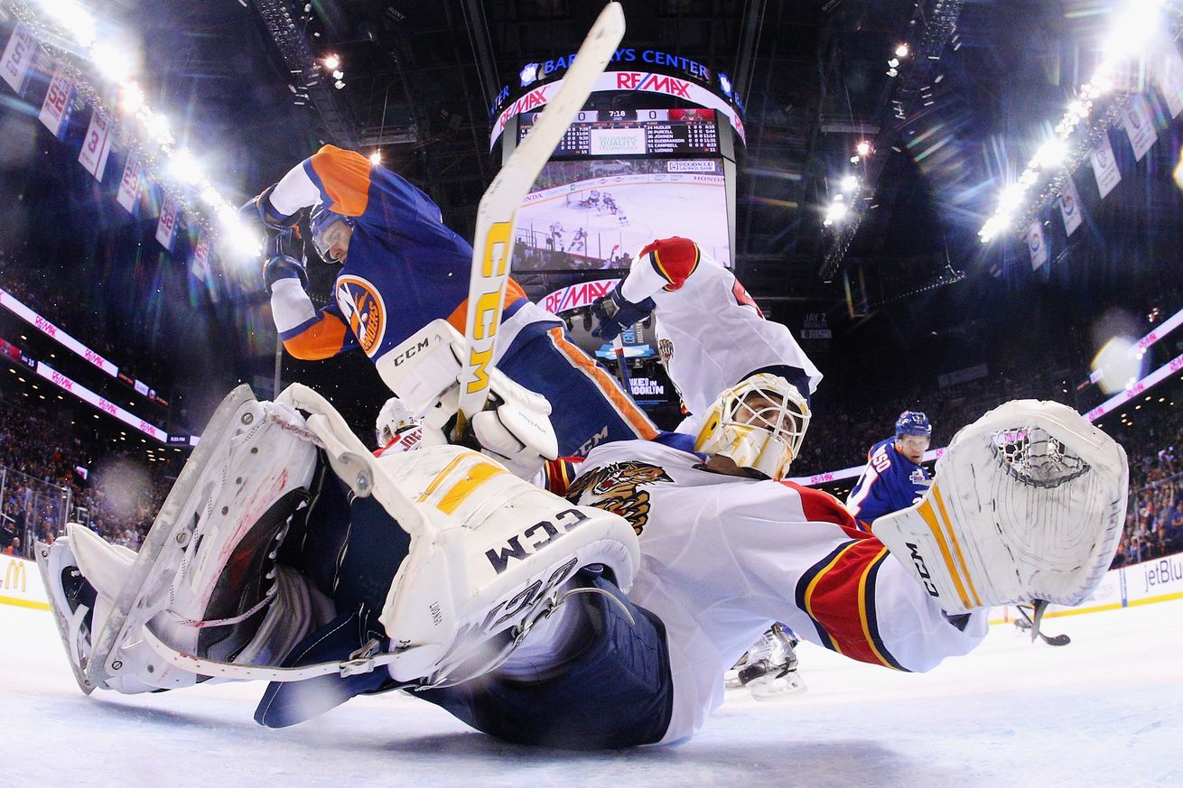 new york islanders take it to final minute to beat florida panthers 2-1 2016 images