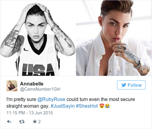 ruby rose turning gay