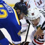 St Louis Blues defeat Chicago Blackhawks 3-2 with Schwartz and Berglund