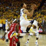 stephen curry drives golden state warriors to beat houston rockets 104-78 2016 images