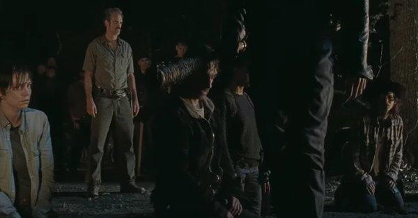 the walking dead final rick grims on knees