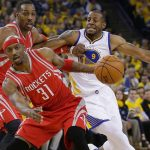 Warriors still beating Rockets 114-81 without Stephen Curry