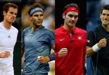 2016 Rome Masters Djokovic, Nadal, Federer and Murray set 2016 images