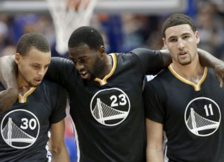 Draymond Green and Klay Thompson hold down Warriors in Steph Curry's absence 2016 images