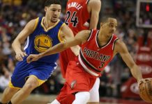 Klay Thompson leads Warriors to beat Blazers 110-99 for 2-0 lead 2016 images