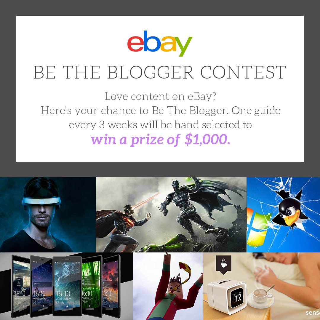 Movie TV Tech Geeks & eBay 'Be the Blogger' Rules and Conditions 2016 images