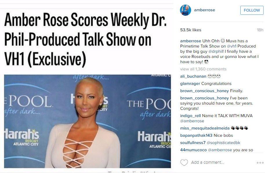amber rose talk show announced