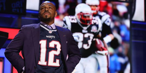 kevin faulk in tom brady jersey
