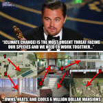 leonardo dicaprio double standards environment