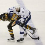penguins push out lightning for conference lead