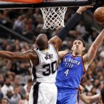 spurs knock out thunder game one