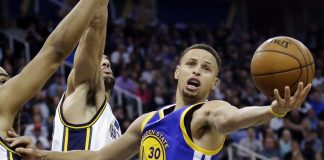 stephen curry is back with warriors win over blazers 132-125 2016 images
