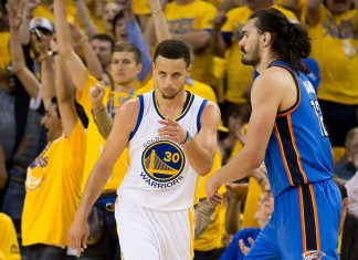 stephen curry proves injur reports wrong as warriors beat thunder game 5 2016 images
