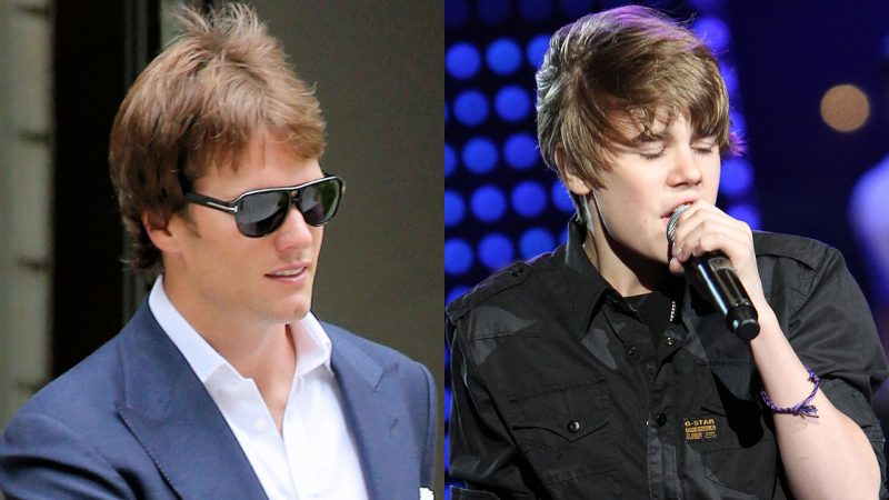 tom brady justin bieber retired hair cut