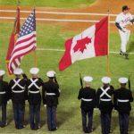 upside down canadien flag world series