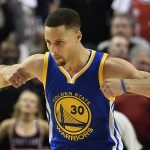 Stephen Curry's Warriors move into semifinals after Blazers win 125-121