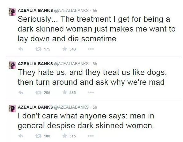 azealia banks on black color treatment