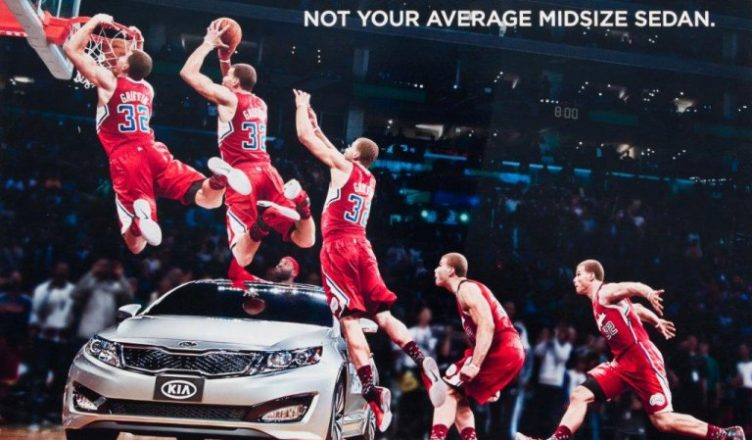 blake griffin not happy about jumping over kia optima 2016