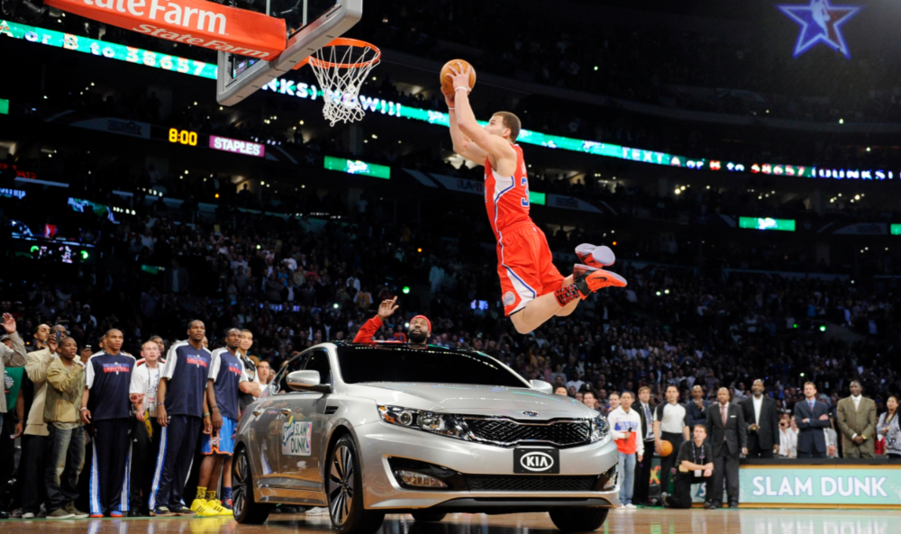 blake griffin reveals nba forced him to jump over a kia optima 2016 images