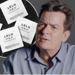 charlie sheen finally dons a condom