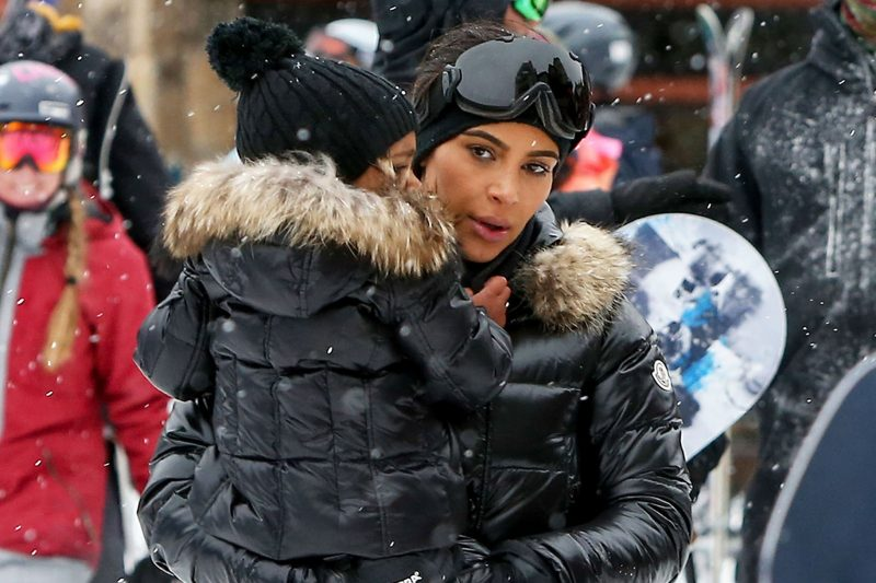 kuwtk kim kardashian with north in vail 2016