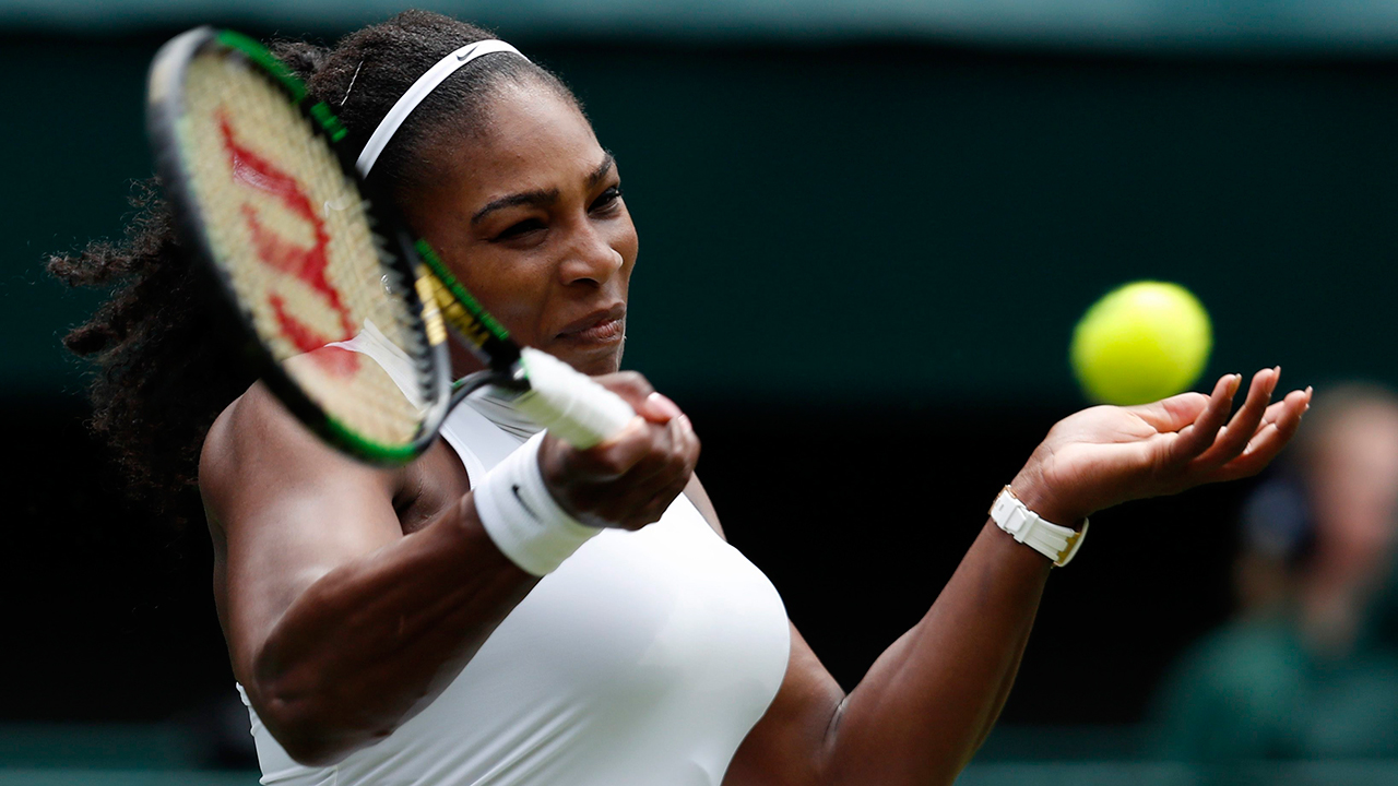 serena williams beats off tough one at wimbledon day 2 2016 images