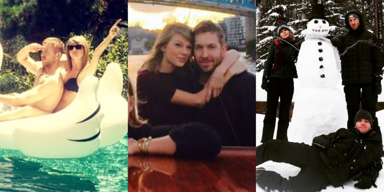 taylor swift purging calvin harris photos on social media