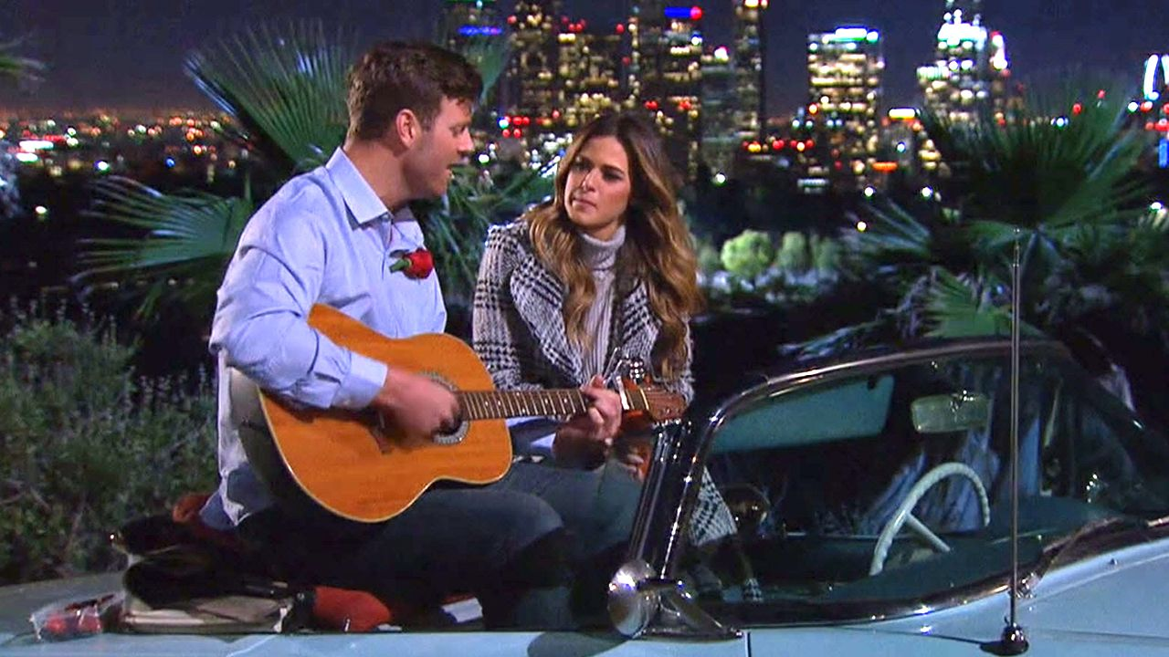 the bachelorette car serenade for jojo
