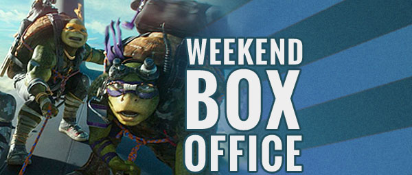 weekend box office weekend tmnt tops
