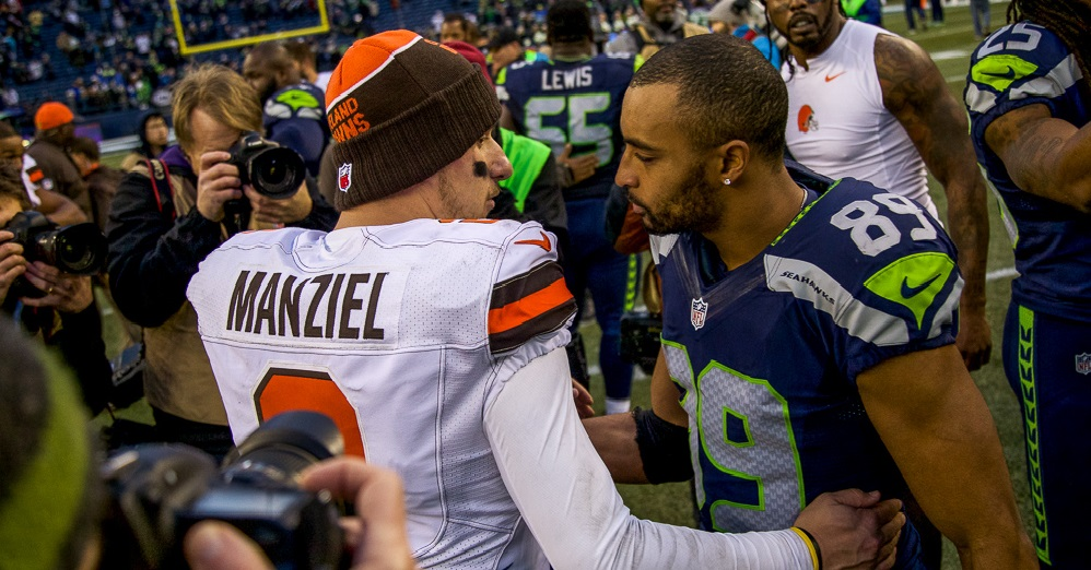Privilege Versus Struggle Johnny Manziel and Doug Baldwin 2016 images