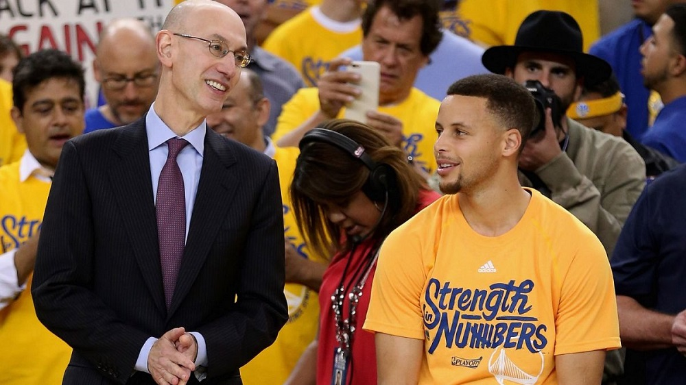 adam silver looking to prevent NBA super teams aka Golden State Warriors 2016 images