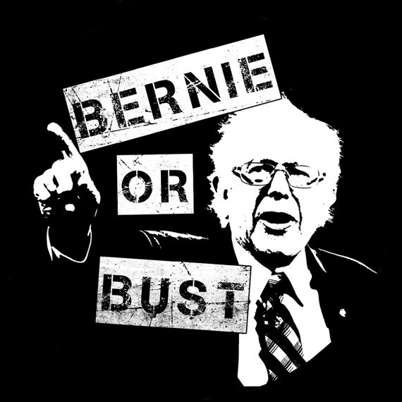 bernie might be out but dont go bustedbernie might be out but dont go busted