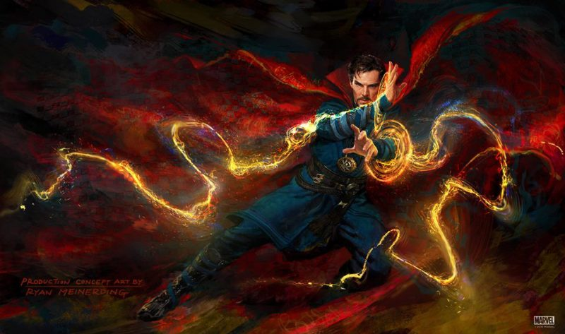 doctor strange artwork benedict cumberbatch comic con