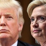 Donald Trump leading Hillary Clinton in key swing states