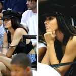 kendall jenner showing lakers spirit for jordan clarkson
