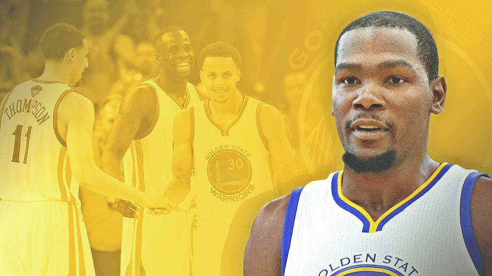 kevin durant breaks nba by joining golden state warriors 2016 images