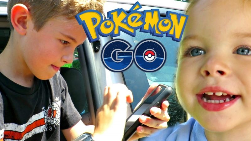 kids will play pokemon go outside