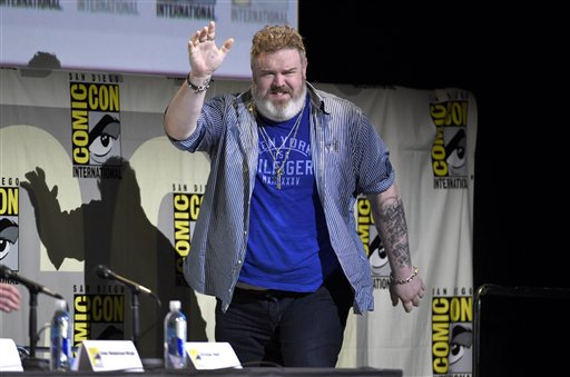 Kristian Nairn game of thrones panel comic con 2016