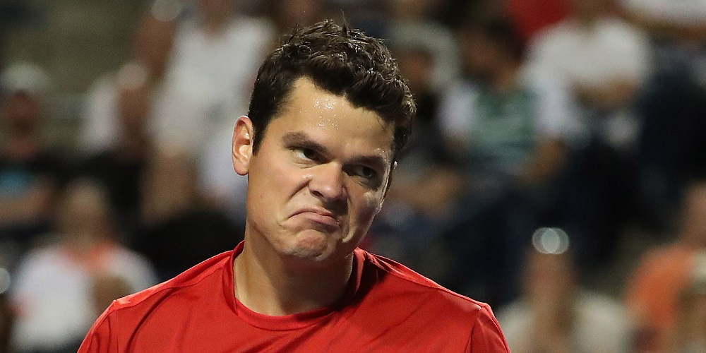 milos raonic out of 2016 rogers cup tennis images