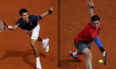 novak djokovic and milos raonic path to semis at 2016 rogers cup tennis images