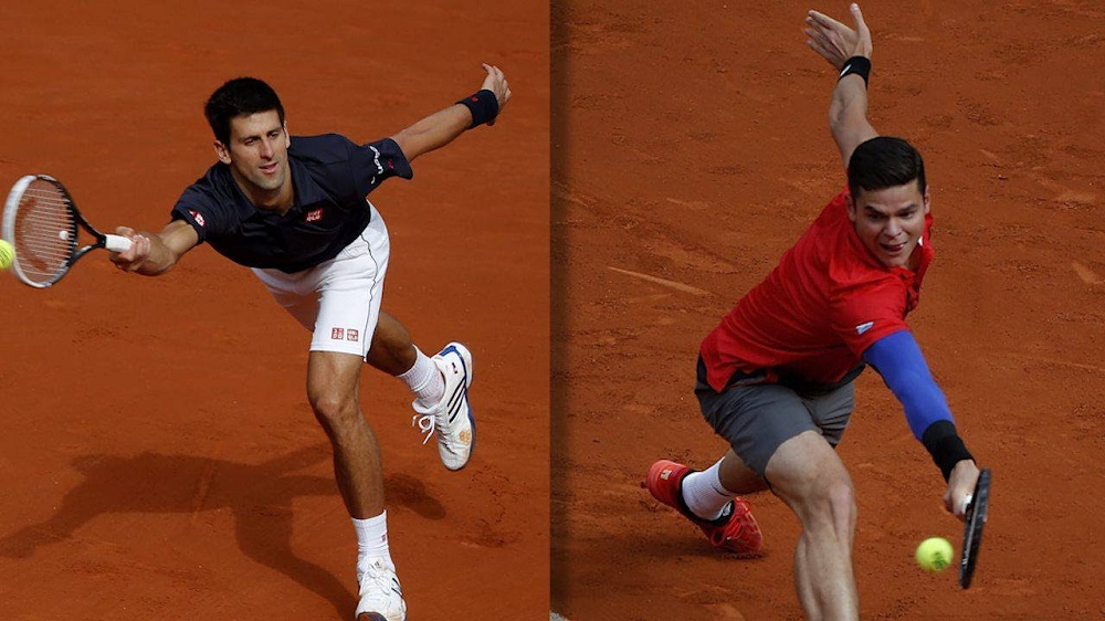 Novak Djokovic and Milos Raonic's path to semis at 2016 Rogers Cup tennis images