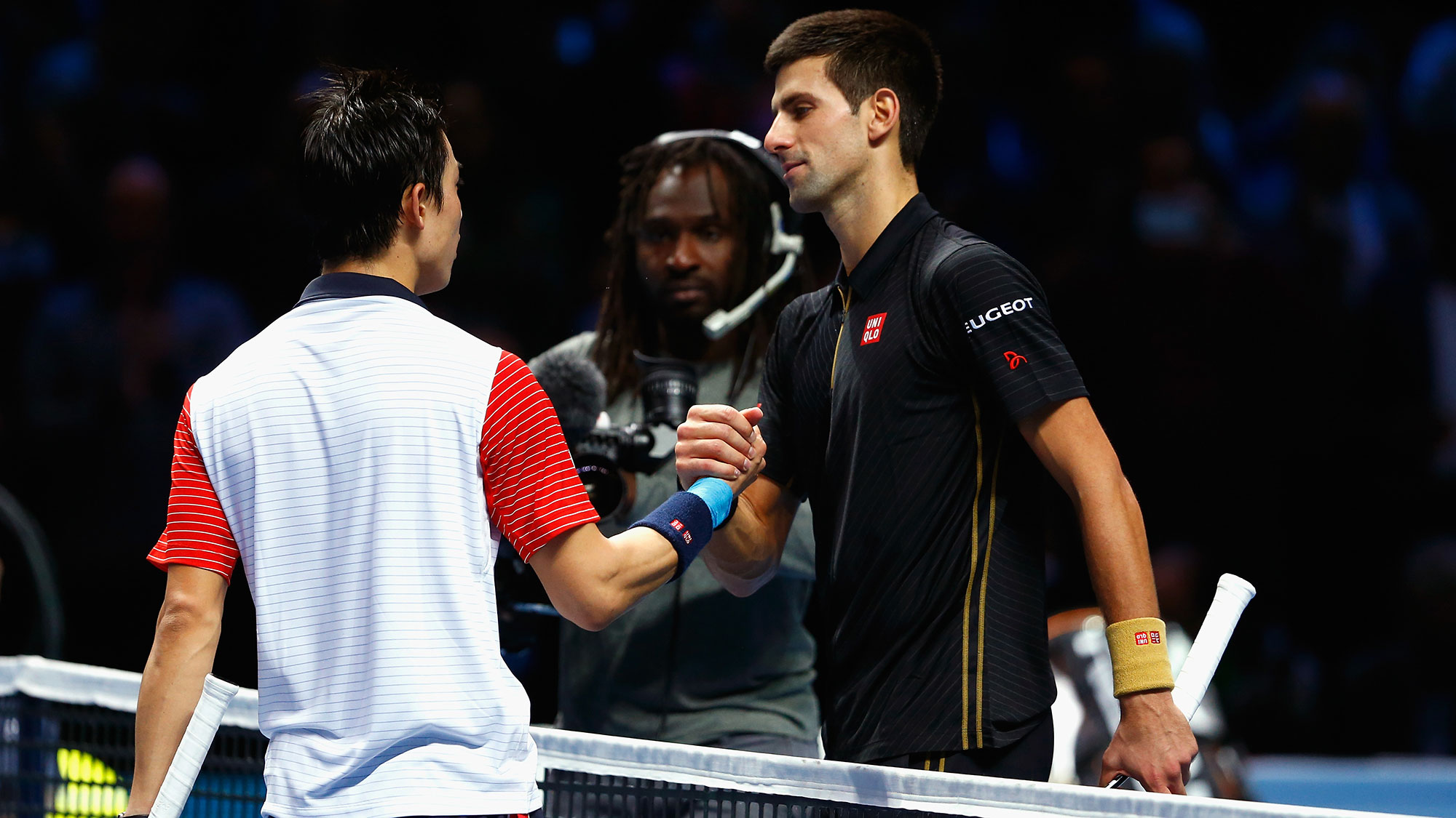 novak djokovic vs kei nishikori after gael monfils win at rogers cup 2016 images