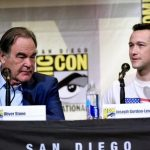 oliver stone with joseph gordon levitt snowden comic con