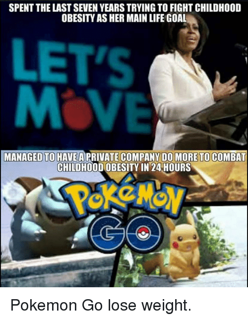 pokemon go for childhood obesity with michelle obama