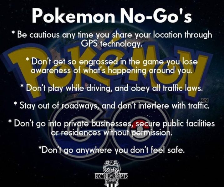 pokemon go rules for kids 2016