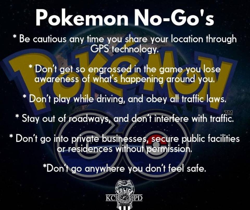 pokemon go safety tips for parents and children of all ages 2016